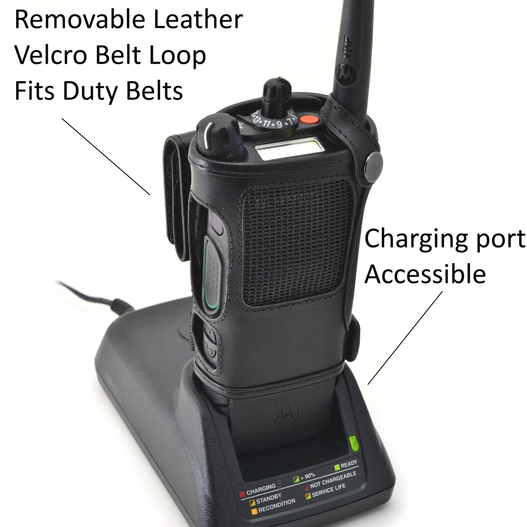Radio holder motorola apx 6000 - Motorola Apx 8000 Belt Carry Holder Case By Turtleback Black Leather Duty Belt Holster With