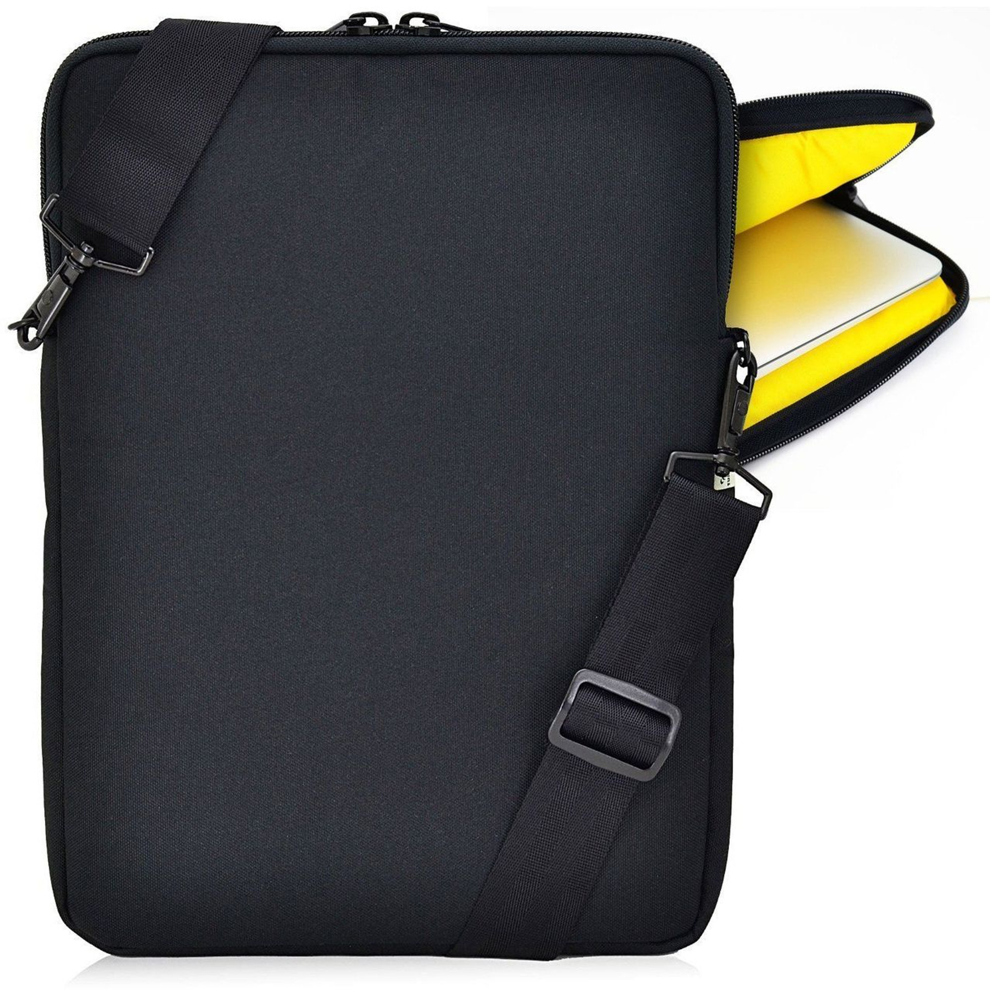apple 14in macbook laptop padded sleeve bag case with straps yellow turtleback case. Black Bedroom Furniture Sets. Home Design Ideas