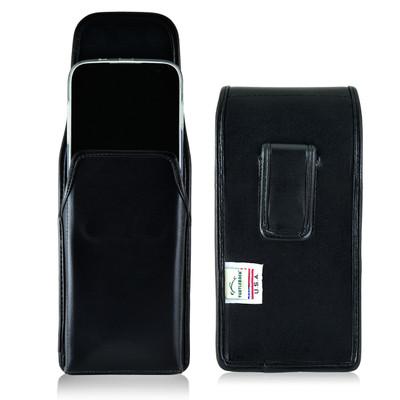 BLU Studio 6.0 HD Vertical Leather Holster Case Black Belt Clip