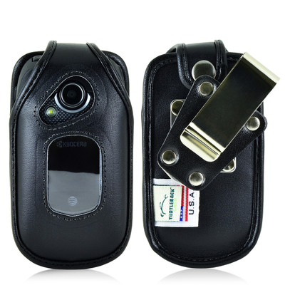 Kyocera DuraXE Fitted Leather Case, Metal Belt Clip