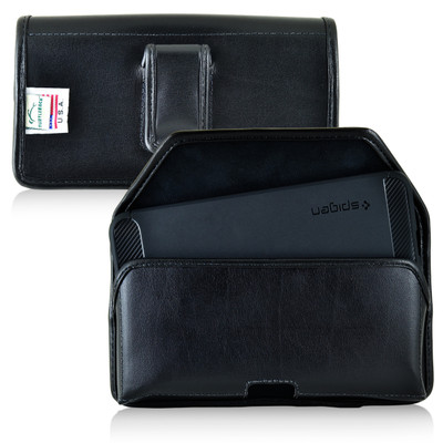 Nexus 6P Leather Holster Case Black Belt Clip