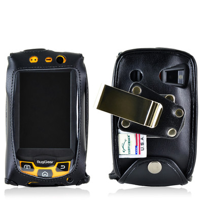 RugGear Swift Plus RG220 Leather Fitted Case Metal Clip