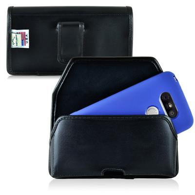 Turtleback LG G5 Leather Holster Case, Black Belt Clip