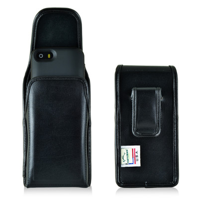 Mophie Juice Pack iPhone SE Holster Mophie Air, Plus, Helium iPhone 5s Belt Clip Case, Executive Belt Clip, Vertical Black Leather Pouch - Magnetic Flap Closure