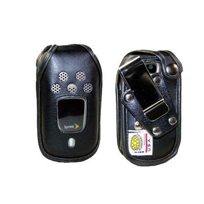 Kyocera DuraXT Fitted Leather Case, Metal Clip
