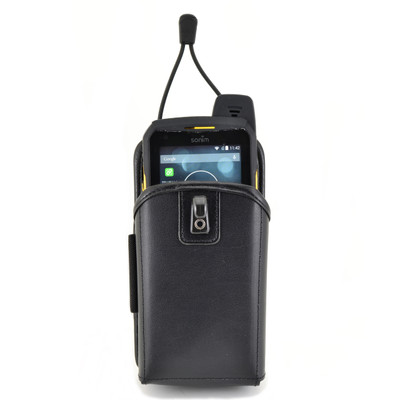 Heavy Duty Leather Holster Pouch for Sonim XPX with Heavy Duty Rotating Belt Clip