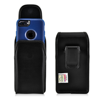 iPhone 8 and iPhone 7 Holster Vertical Black Belt Clip Fits Otterbox Commuter
