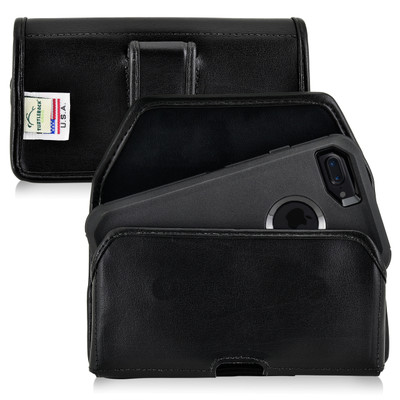 iPhone 8 and iPhone 7 Holster Horizontal Black Belt Clip Fits Otterbox Defender