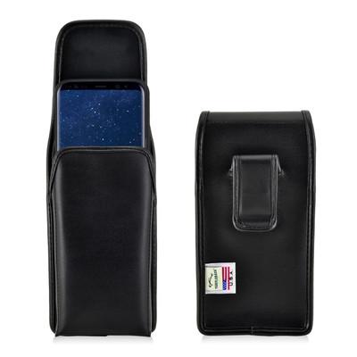 Galaxy S8 Plus Leather Vertical Holster Case Black Belt Clip
