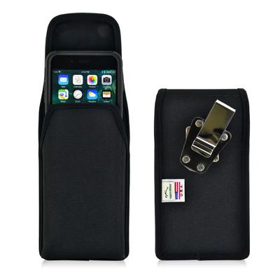 iPhone 6S Plus Nylon Vertical Holster Metal belt Clip Case Fits Otterbox Commuter
