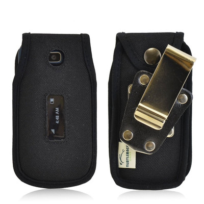 Alcatel 768 Heavy Duty Nylon Phone Case with Rotating Metal Belt Clip