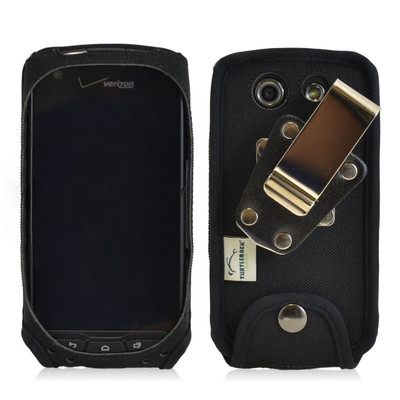 Kyocera Brigadier Heavy Duty Nylon Phone Case with Removable Metal Clip