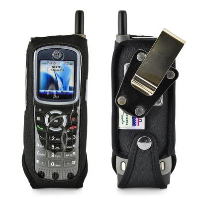 Motorola i365 Heavy Duty Nylon Phone Case with Removable Metal Belt Clip - Bottom Closure