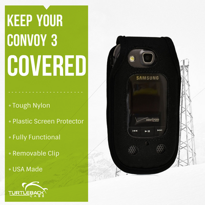 Samsung Convoy 3 U680  Heavy Duty Nylon Case with Removable Metal Clip