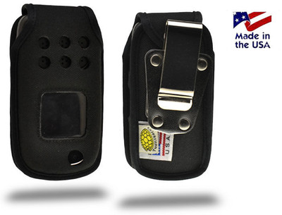 Samsung Rugby 3 A997 Heavy Duty Nylon Fitted Flip Phone Case with Rotating Metal Belt Clip