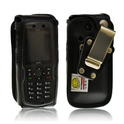 Sonim Strike XP3410 IS Leather Fitted Case with Heavy Duty Rotating Removable Metal Clip