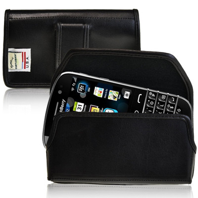 Blackberry Classic Q20 Horizontal Leather Holster, Black Belt Clip