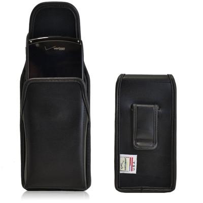 Kyocera Brigadier Vertical Leather Holster, Black Belt Clip