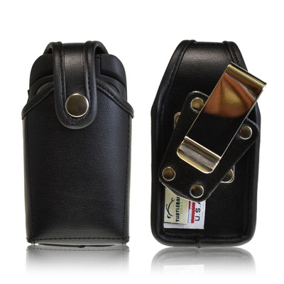 Kyocera DuraXT Leather Holster, Metal Belt Clip, Snap Closure
