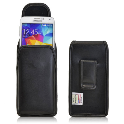 Samsung Galaxy S5 Vertical Leather Holster, Black Belt Clip