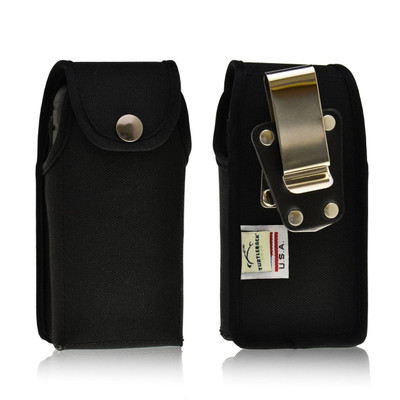 Sonim XP3410 IS XP1520 XP5560 Nylon Holster Case Pouch with Heavy Duty Rotating Metal Belt Clip