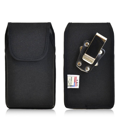Vertical Nylon Extended Holster for HTC One M8 with Bulky Cases, Metal Belt Clip
