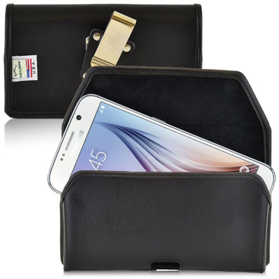 Galaxy S6 Horizontal Leather Rotating Clip Holster