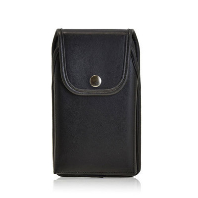 6.00 X 2.87 X 0.50in - Leather Holster Metal Belt Clip with Snap Closure