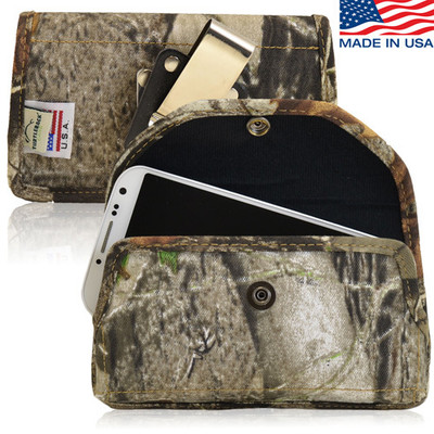 5.87 X 3.25 X 0.75in - Camouflage XL Nylon Horizontal Holster, Metal Belt Clip