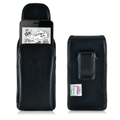 Verykool Fusion, Senseit Luna & Luna Jr Leather Holster, Black Belt Clip