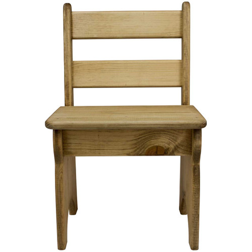 Wooden Toddler Chair Front View