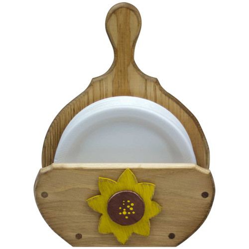 (sunflower-design) wooden-paper-plate-holder-  sc 1 st  DNL Woodworks : paper plate and utensil caddy - pezcame.com