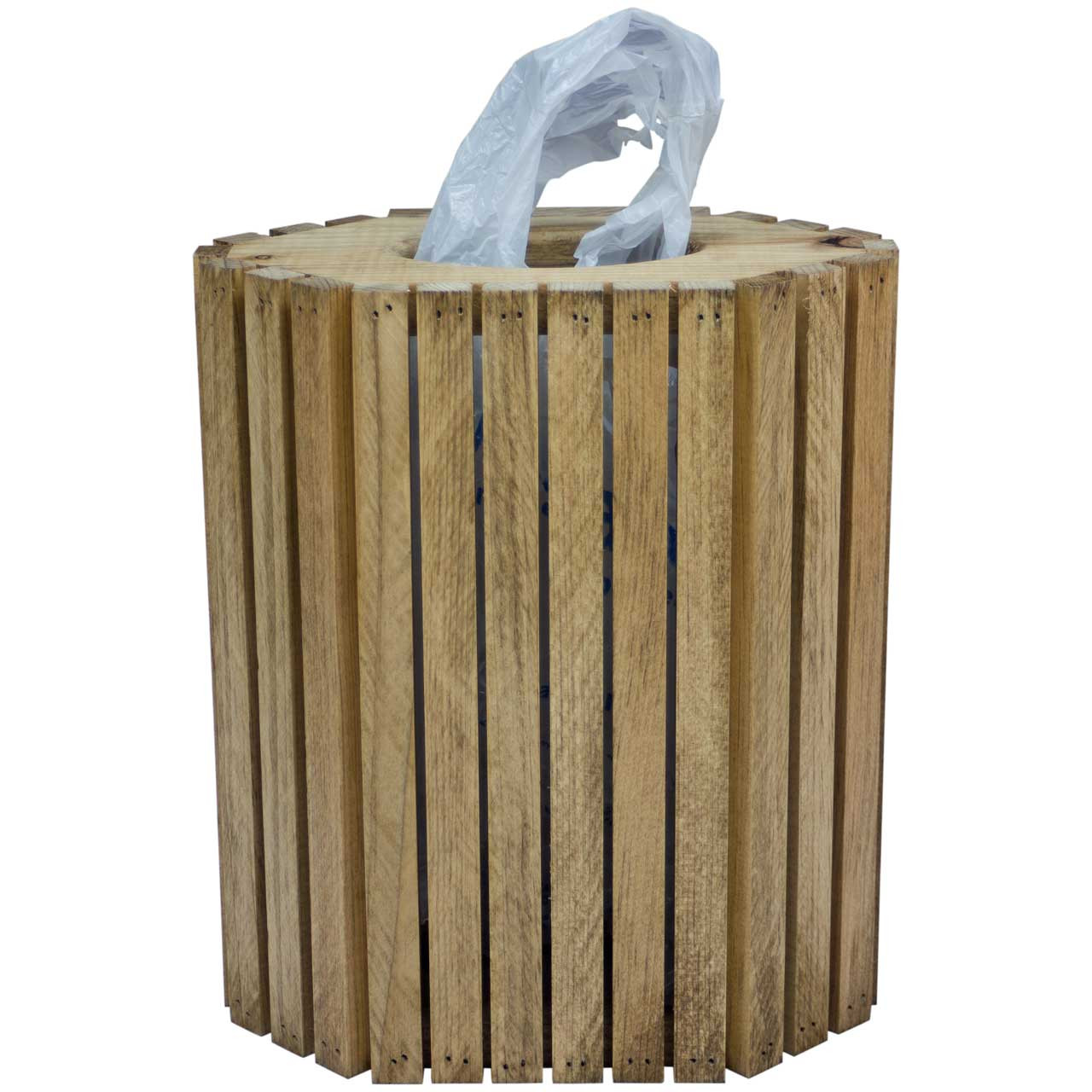 Wooden Plastic Bag Dispenser Grocery Store Plastic Bag Holder