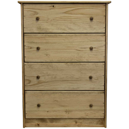 Front View Unfinished Pine Chest Of Drawers