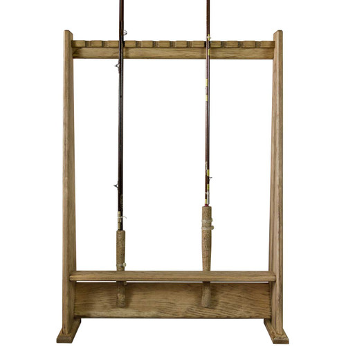 Fishing pole holder wooden fishing rod racks for home for Fishing rod rack