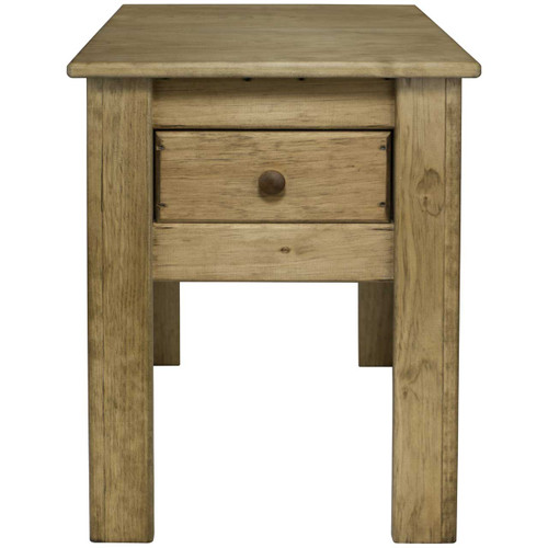 (front View) Unfinished Shaker Wood Side Table