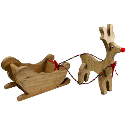 Wooden-Sleigh-and-Reindeer