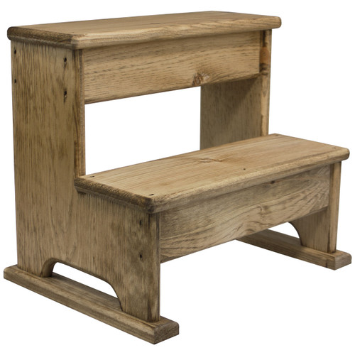 angled view solid wood step stool  sc 1 st  DNL Woodworks & Wooden Step Stool For Bedside | Kids Bathroom Step Stool ... islam-shia.org