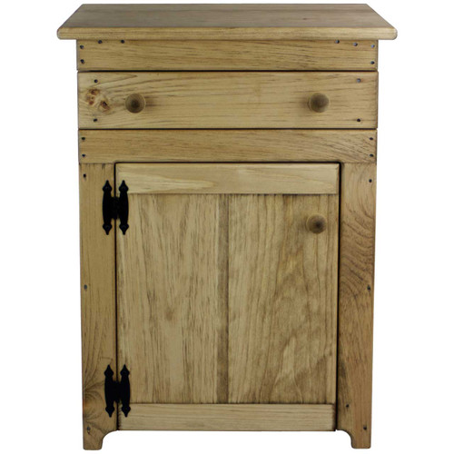 Nightstand with Door and Drawer Front View