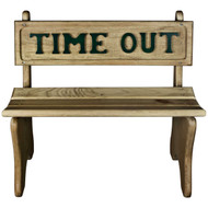 Wooden-Time-Out-Chair-Green-Front View