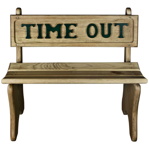 Wooden-Time-Out-Chair-Green-Front View  sc 1 st  DNL Woodworks & Timeout Bench | Wooden Time Out Chair - dnlwoodworks.com