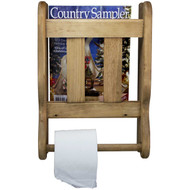 Wall-Mounted-Magazine-Rack-Solid Wood-(front-view)
