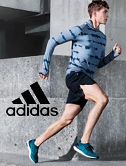 Man running wearing Adidas