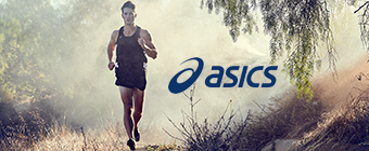 Man running wearing Asics