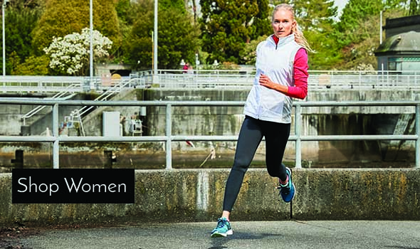 Woman running wearing Brooks