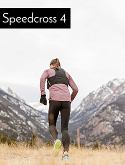 Woman running wearing Salomon