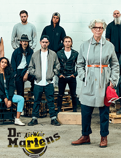 Group of people standing around wearing Dr. Martens