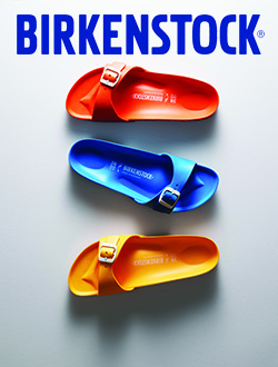 Three different colors of the Birkenstock Madrid Essentials EVA Sandals