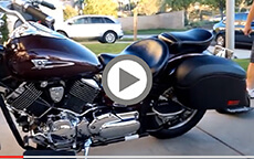 Vikingbags Lamellar Large Leather Covered motorcycle Saddlebags Installation Video