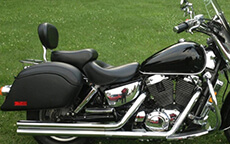 William Duke Sr's '02 Honda Shadow Sabre VT1100 w/ Lamellar Hard Saddlebags